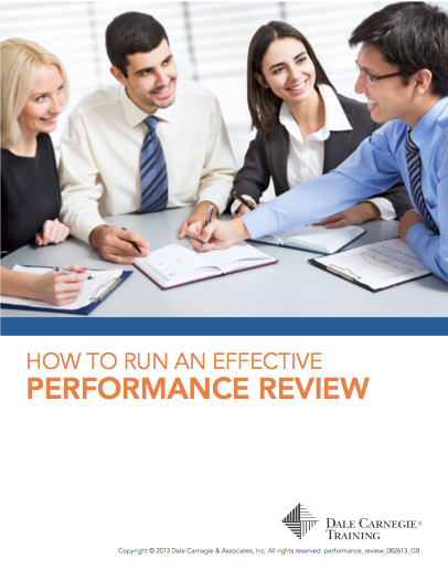 How To Run An Effective Performance Review - Guide by Dale Carnegie