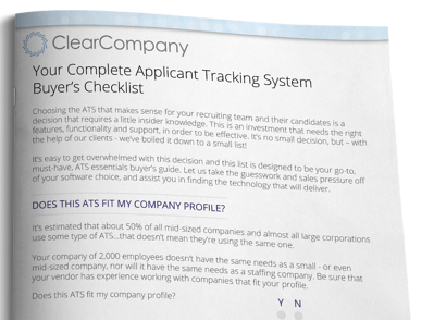Your Complete ATS Buyers Checklist