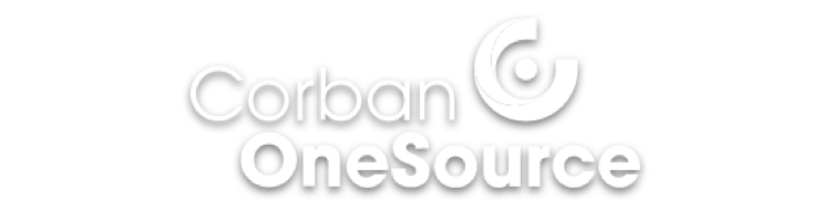CorbanOnesource-White-Logo