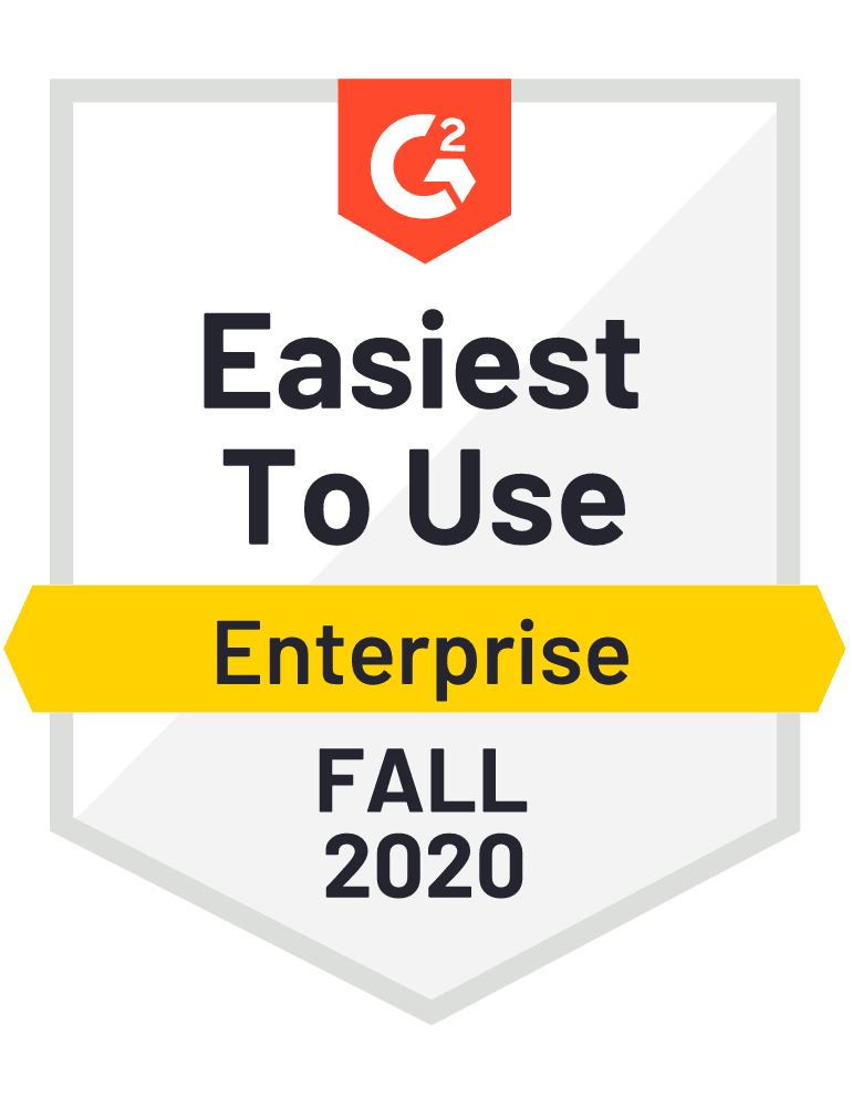 G2 Enterprise Easiest to Use Fall 2020