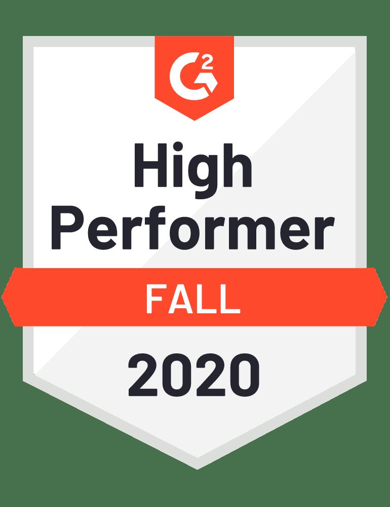 G2 General High Performer Fall 2020