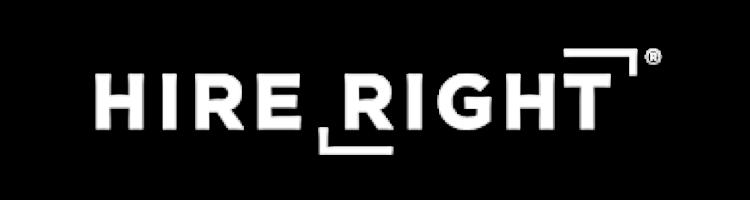 Hire Right White Logo